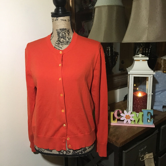 J. Crew Sweaters - J. Crew Orange Button Down Cardigan